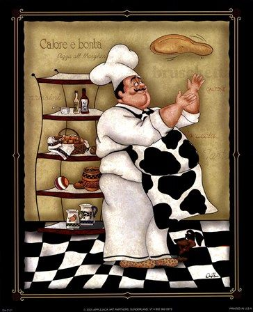 the perfect picture for my kitchen! I love the chef red & black theme. and my man loves making pizza. :)♥