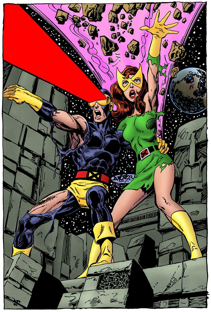 Cyclops and Marvel Girl by John Byrne