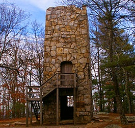 Old Tower at Fort Mountain State Park. Georgia.