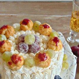 Torta all'uva con zibibbo