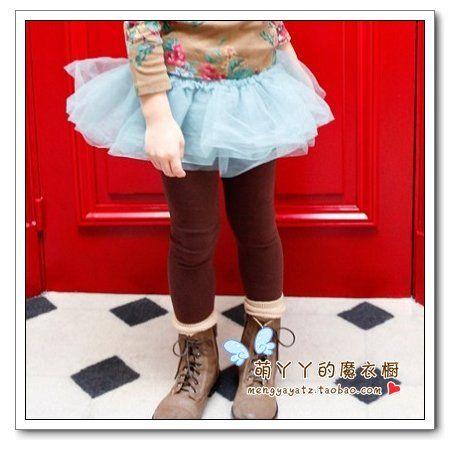 Осенние 2013 корейских детей девушки дикие марли пачка торт детские леггинсы детей брюки брюки - Taobao