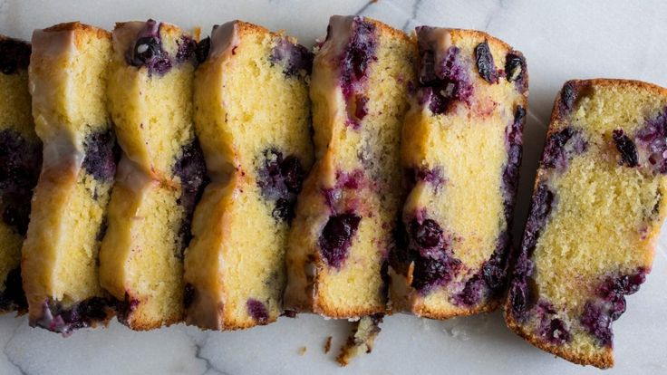 A slice of this berry-dotted cake is perfect late in the morning or for afternoon tea.