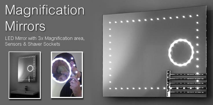 Magnification LED Mirrors | Bathroom Mirrors | Illuminated Mirrors