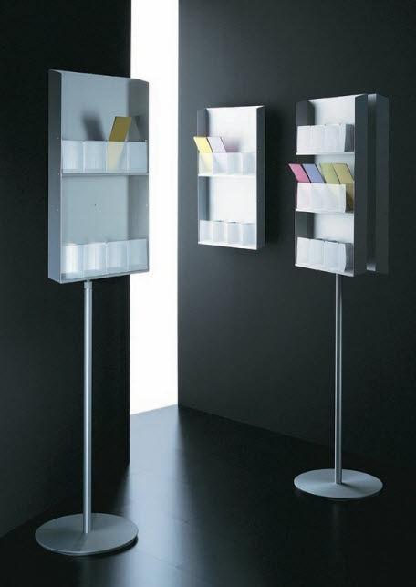 brochure display rack CAPO-FAMIGLIA by Studio Mussapi SEGIS
