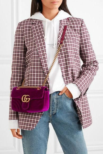 b728e0cb413a Gucci | GG Marmont mini quilted velvet shoulder bag | NET-A-PORTER.COM  #Guccihandbags
