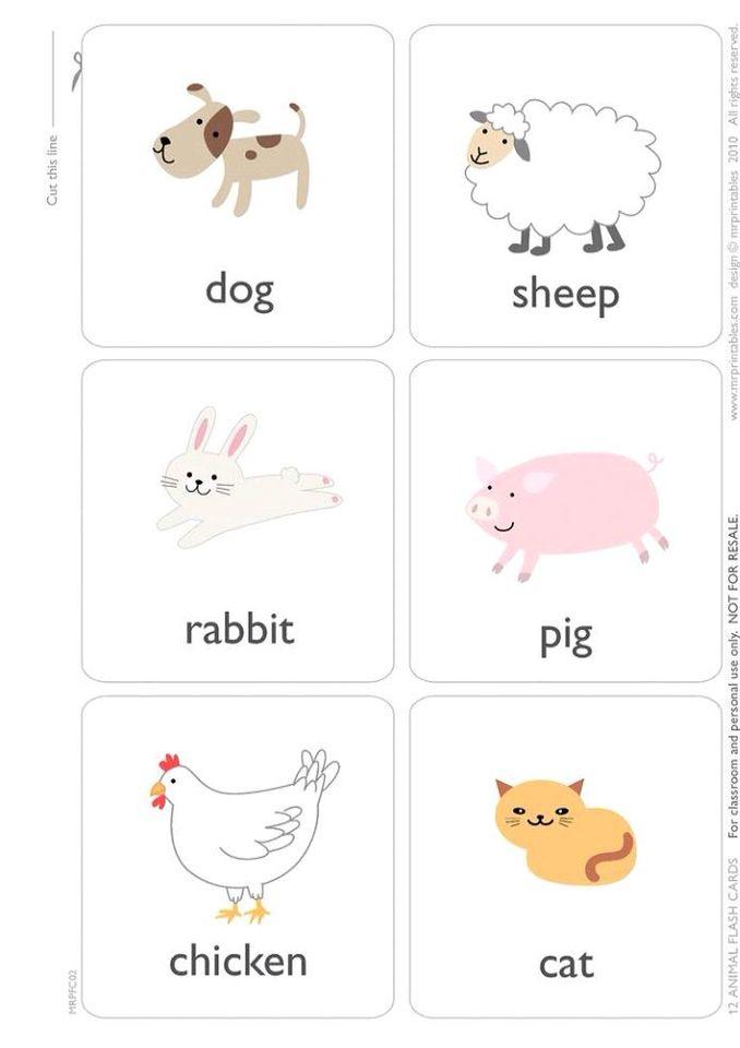 Открытка, картинки с животными для детей с надписями на английском