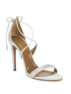 Aquazzura - Spin Me Around Leather Ankle-Strap Sandals