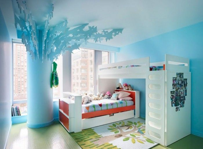 Teen Girl Bedroom Ideas In The Special Remodel And Performance: Blue Tween Girl Bedroom Ideas Top Floor Apartment L Shape Bed Bunk