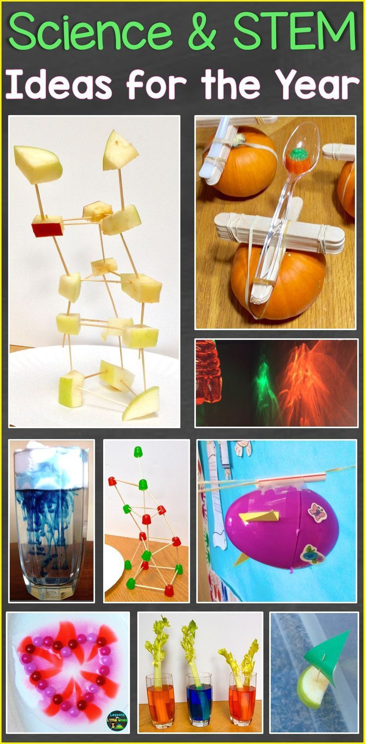 Science Stem Ideas For The Entire Year Lessons For Little Ones By Tina O Block Diy Science Experiments Diy Science Stem Activities