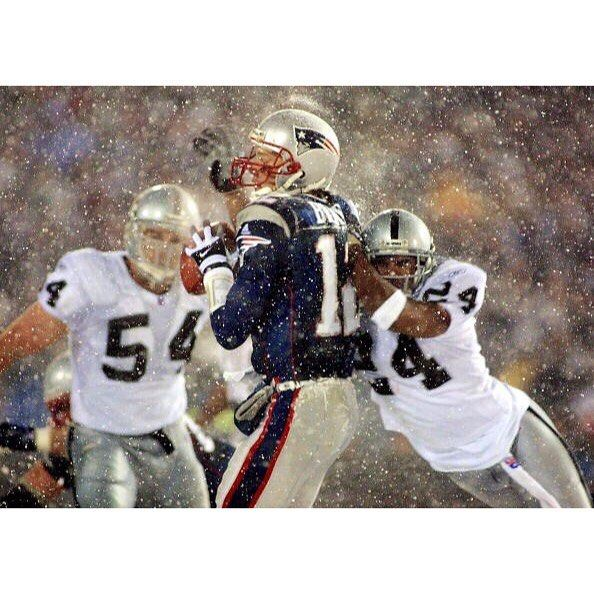 On this date in 2002 Tom Brady got the first of his NFL-record 23 postseason wins in the Tuck Rule game. #repre23nt #tombrady #patriots #nfl #football
