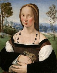 Ridolfo Ghirlandaio - Portrait of a Lady with a Rabbit | Flickr - Photo Sharing