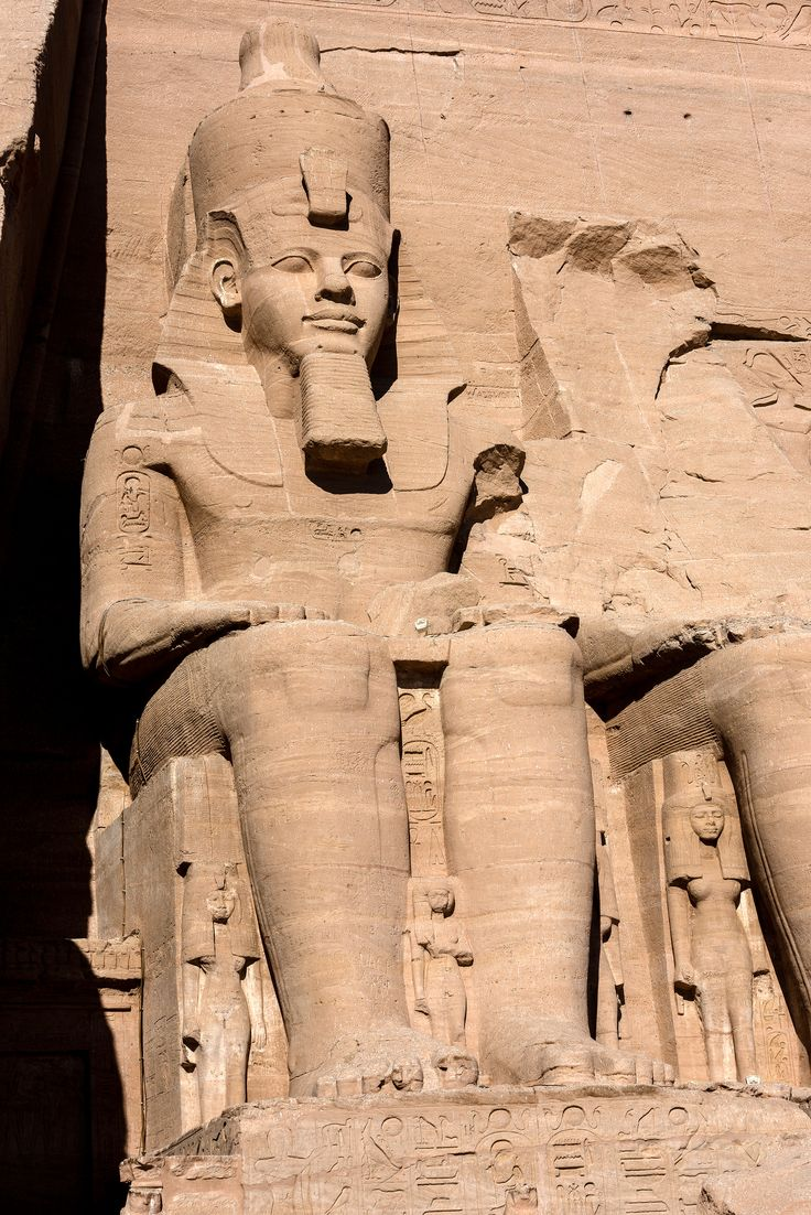 "https://flic.kr/p/jbxCBr | Great Temple at Abu Simbel | The Abu Simbel temples are two massive rock temples in Abu Simbel in Nubia, southern Egypt. The complex is part of the UNESCO World Heritage Site known as the ""Nubian Monuments,"" which run from Abu Simbel downriver to Philae (near Aswan). The twin temples were originally carved out of the mountainside during the reign of Pharaoh Ramesses II in the 13th century BCE, as a lasting monument to himself and his queen Nefertari. The Great…"