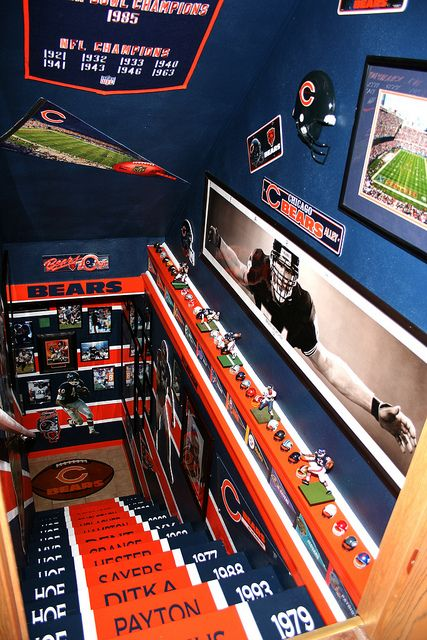 Chicago Bears mancave! by bearlacher, via Flickr