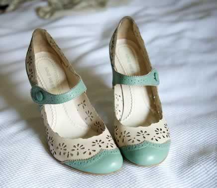 vintage trouwschoenen