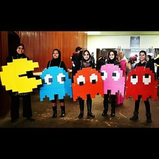 Or maybe you got a lil' geeky and ran around the streets in your Pac-Man pack. | What's The Best Group Halloween Costume You've Ever Had?