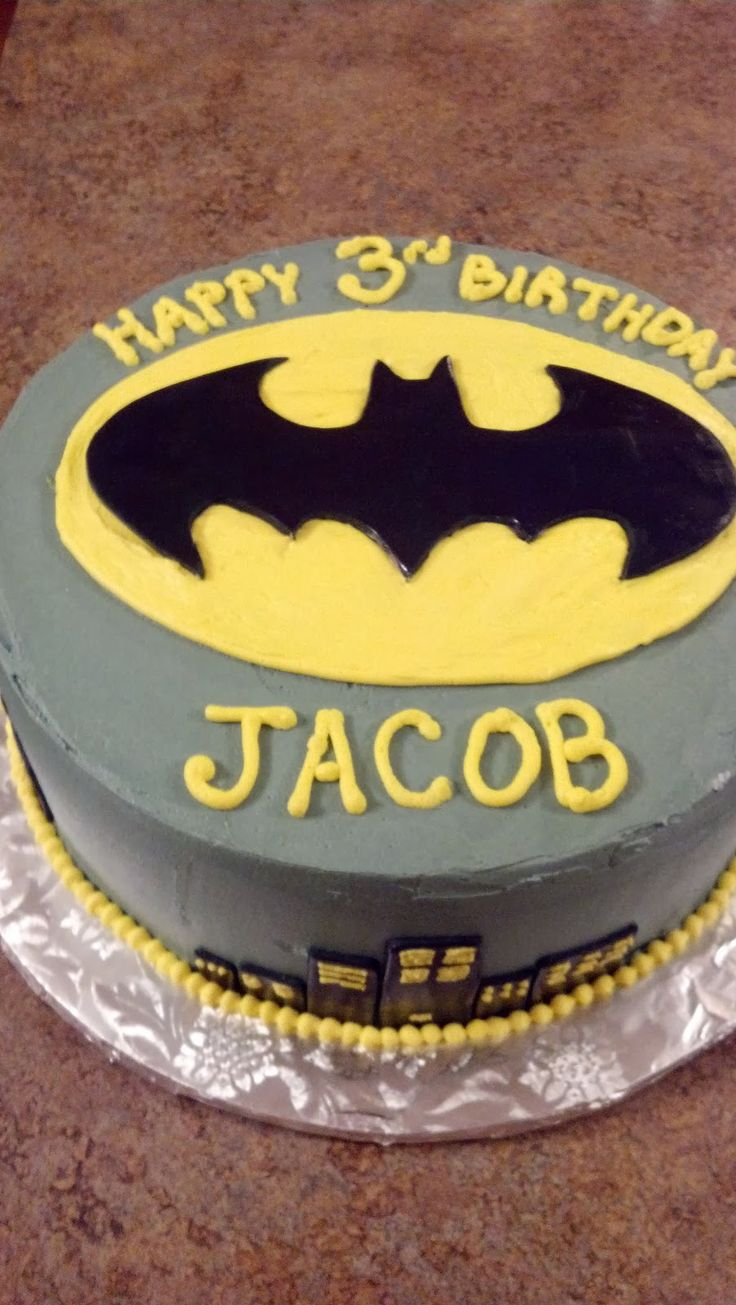 Cakes: Batman Birthday Cake
