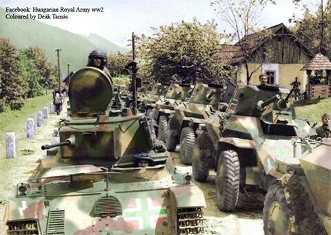Csaba armoured cars column