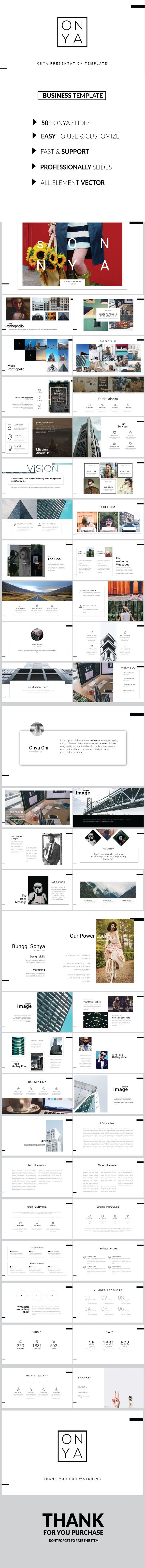 Onya - Clean Multipose Template Powerpoint - Business PowerPoint Templates