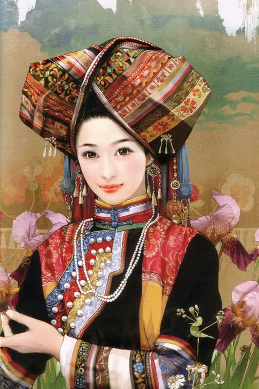 台灣插畫家畫的56個民族人物手繪【超美,56张全】Hand painted illustrations of 56 ethnic groups from China.     The artist Chen Shu Fen (陈淑芬) is best known for her paintings of beautiful women and handsome men. She has worked on a project in which she painted 56 Chinese ethnic groups from China. Each staying true to there original ethnic clothing.