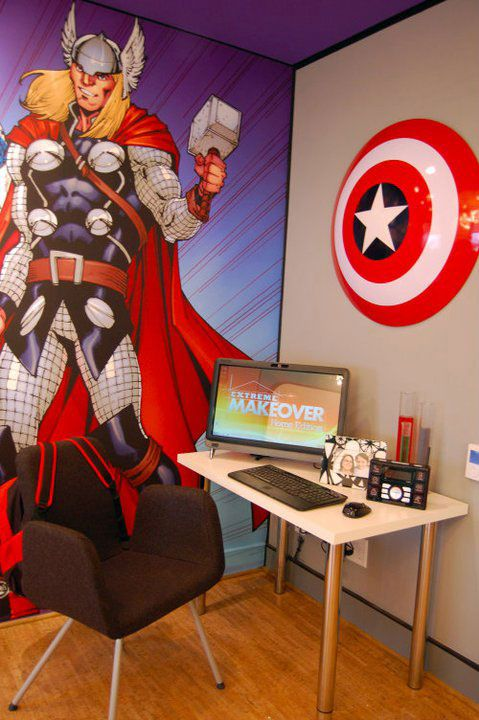 Avengers Room - I have to get the shield for Brogan's wall!!