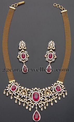 Medium Size Dazzling Diamond Necklace