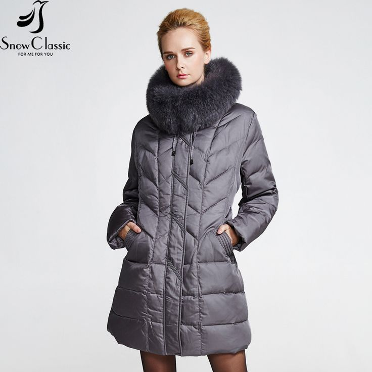 SnowClassic winter down coat jacket Plus Size women warm   parka Thick long solid Real Fox Fur Collar Down coats jacket 12029 ** Find out more on www.aliexpress.com by clicking the image #Womensjackets
