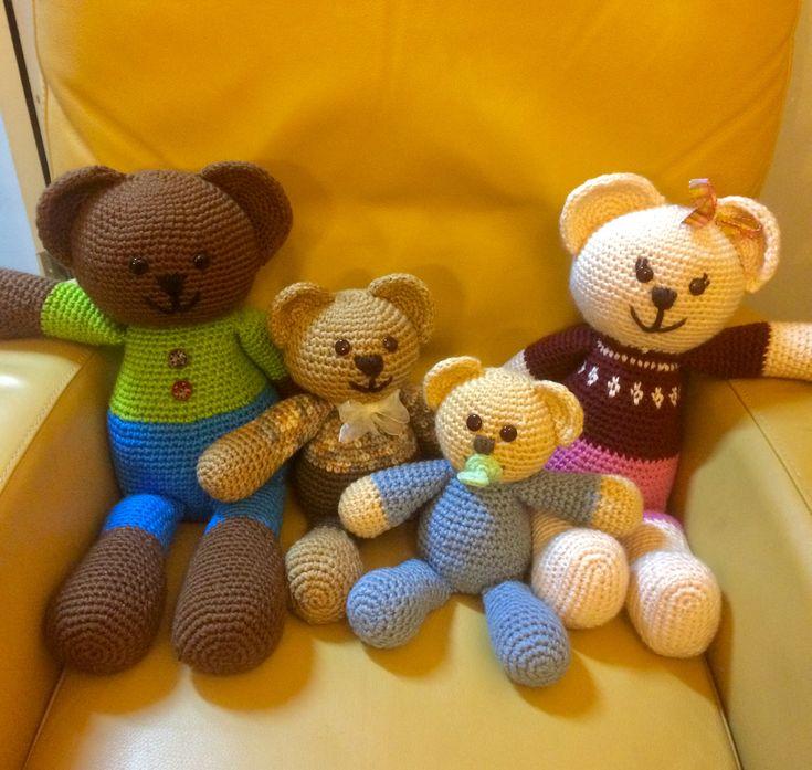 Familia oso a crochet