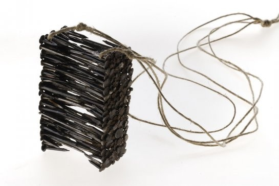 Katerina Asam, pendant, nails, cord, 2007 (Alchimia school) (jewelry with nails)