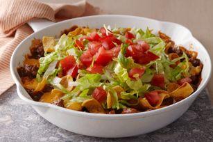 Cheesy Beef-Corn Chip Skillet