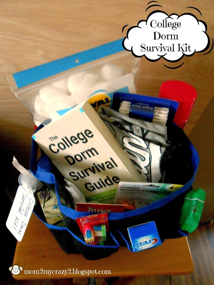Running away? I'll help you pack.: College Dorm Survival Kit Gift Idea