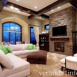 I Really Like The Tv Over Fire Place Idea Living Room