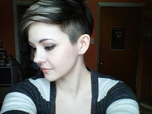 side view of pixie cut 2013 short haircut for women