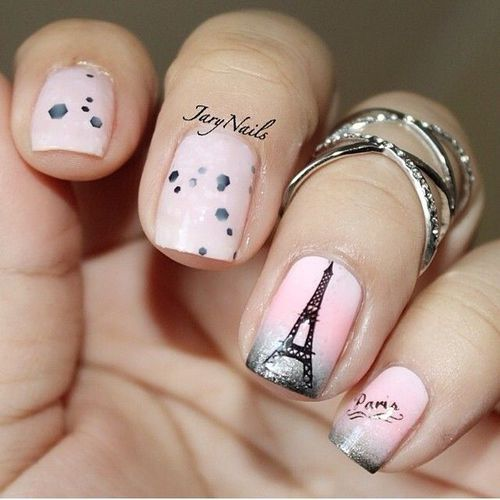 Картинка с тегом «nails, paris, and pink»