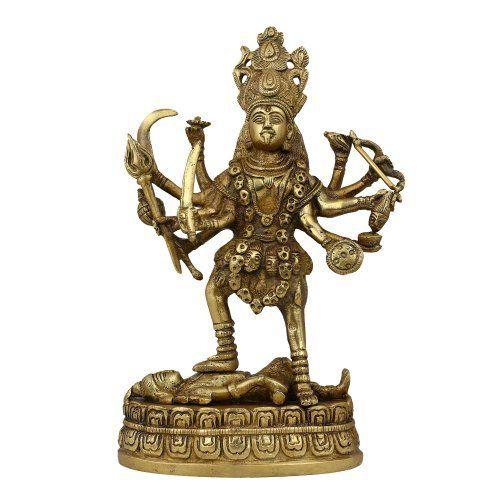 Amazon.com: Statue Kali Goddess Figurine Idol Décor Hindu Art; Brass; 5 x 2.75 x 9 Inches: Home & Kitchen