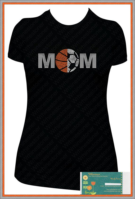 Basketball and Soccer Mom Rhinestone Shirt Bella XL