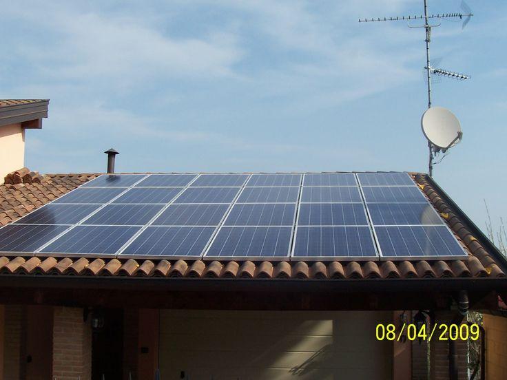 6 kW residential solar. Italy 2008