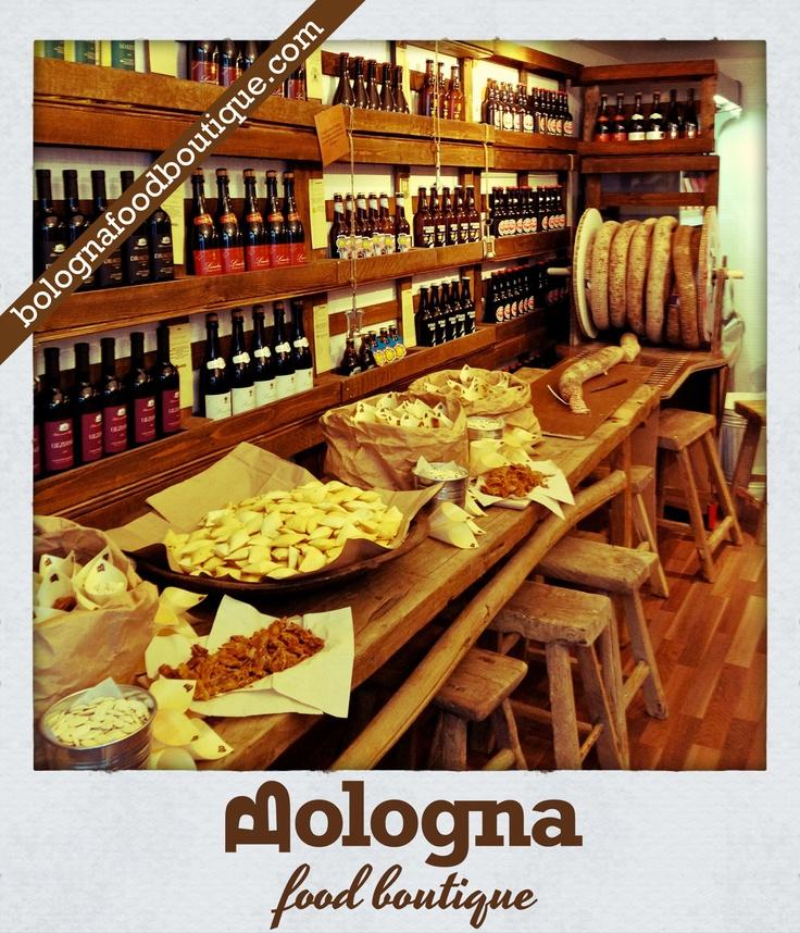 Bologna Food Boutique - Local Food, wine and beers (Streghette, salame, ciccioli, brustulli e mortadella)