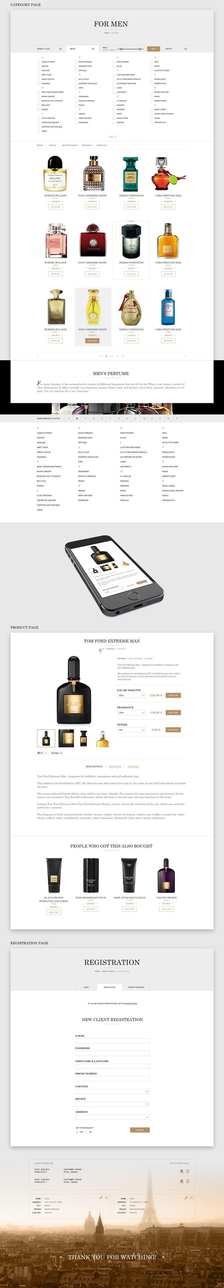 Online store luxury perfumes. on Behance