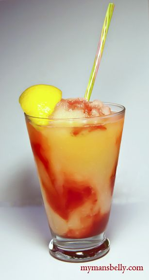 A delicious recipe for adult Strawberry Lemonade. An adult frozen lemonade that'll be a summer favorite and an addition to your frozen drink recipes.