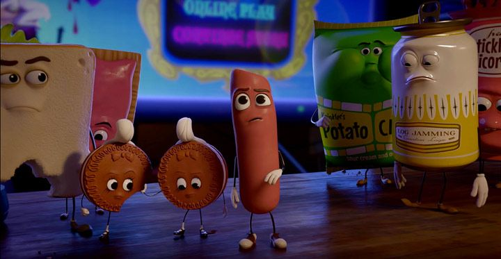 Foodstuff Graphically Vulgarly Learns Its Edible Fate in New 'Sausage Party' Trailer