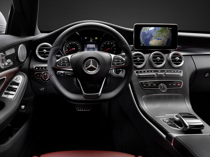 Mercedes-Benz released photos of the new C-class cabin, showing a revised design and a head unit with Google maps integration.
