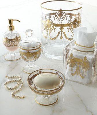Home Treasures Louvre Wastebasket traditional waste baskets