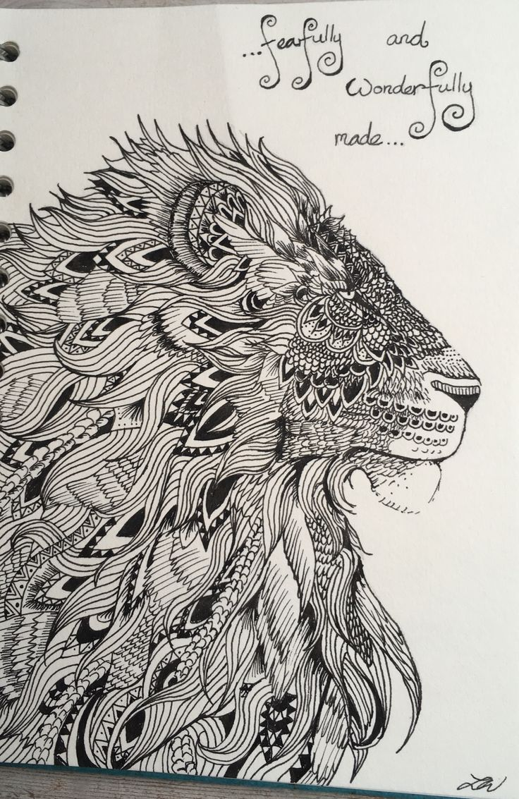 'Fearfully and wonderfully made' - Pen drawing