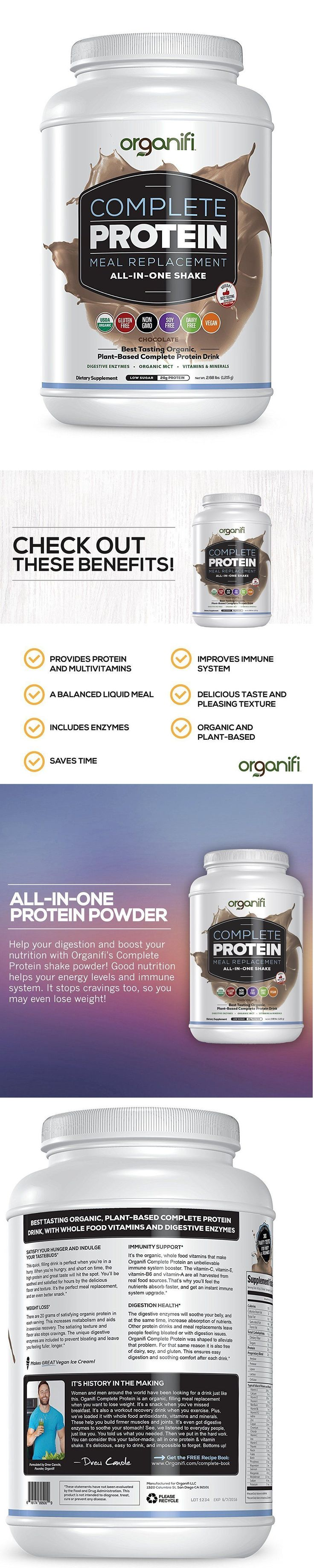 Energy Bars Shakes and Drinks: Organic Protein Powder Shake - Nutritious Vitamin Meal Replacement, Organifi $90 -> BUY IT NOW ONLY: $44.95 on eBay!