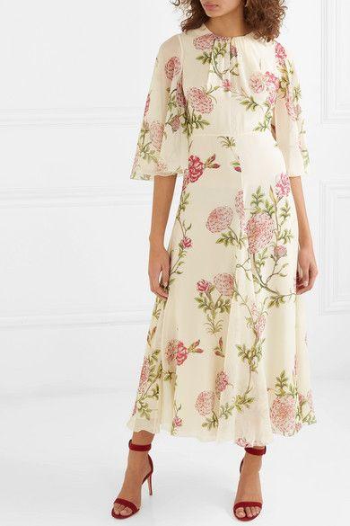 39313aca33e7 Giambattista Valli | Ruffled floral-print silk-chiffon midi dress |  NET-A-PORTER.COM