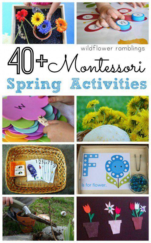 Montessori Spring Activities - Wildflower Ramblings