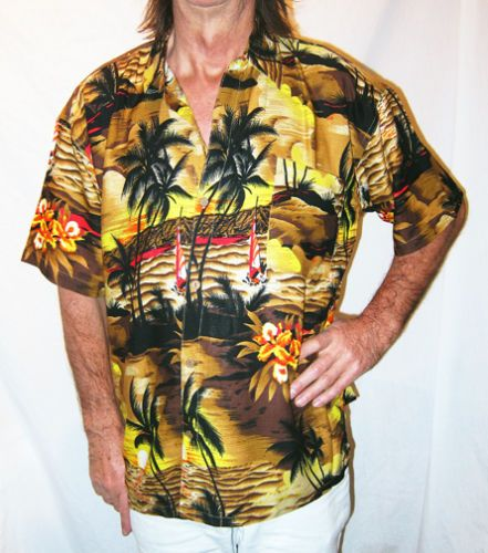 Our Hawaiian shirts, dresses,  are made in BAli and Jawa,  Hawaiian themes that convey the spirit of Aloha. We use high quality fabrics and real coconut buttons from Bali, Hawaii. There is a Size Chart button available on all products to confirm the right size for you. by.   http://cvhasanahtex.com