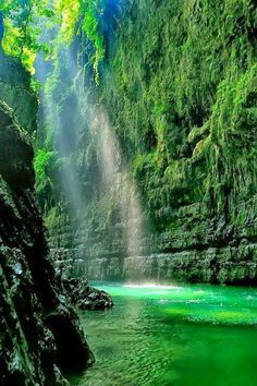 Magic light in the Spessart Mountains of Bavaria, Germany Enchanted Forest, Scotland Green Canyon, West Java, Indonesia Emperor's Corridor,…..Green Canyon, West Java, Indonesia