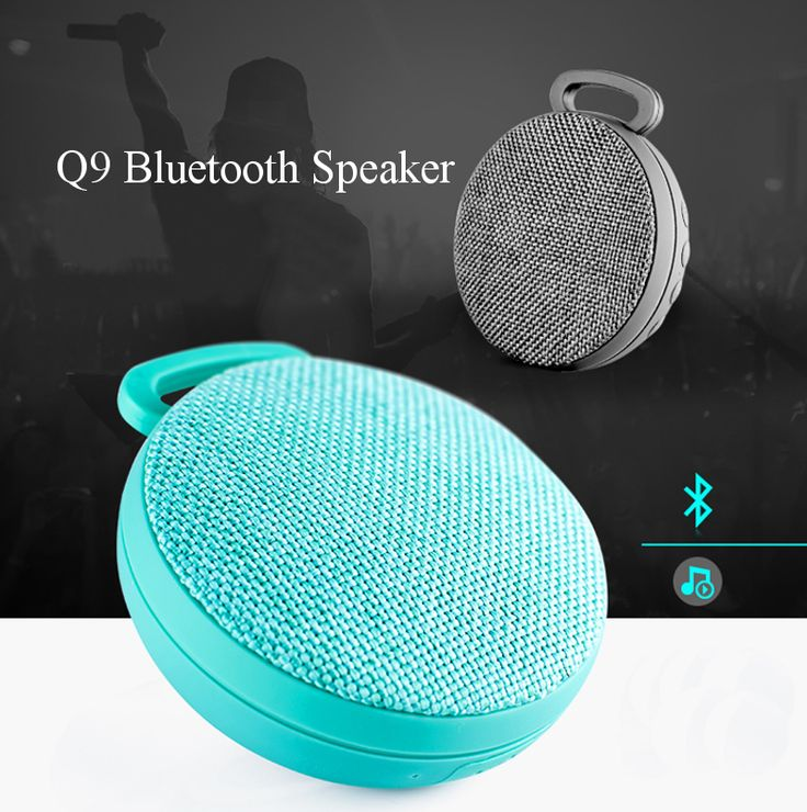 Q9 Outdoor Portable Mini Cloth TF Card FM Radio Microphone Stereo Bluetooth Sepaker