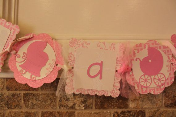 Shabby Chic ITS A GIRL Baby Shower Banner pink by TheSpoiledWall, $16.50